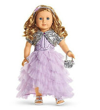 """American Girl TM FROSTED VIOLET GOWN for 18"""" Dolls Gown Shoes Holiday Outfit NEW"""