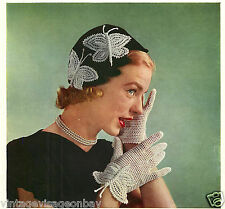 Vintage papillon 1950s crochet patterns - 16 pages de papillons pour faire-repro