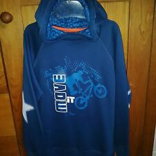 phister and philina boys long sleeve hoodie with a bike on the front age 8 yrs