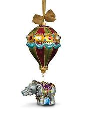 Jay Strongwater Balloon with Elephant Glass Christmas Ornament - Jewel NIB