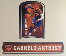 """Carmelo Anthony FATHEAD Official Player Graphic 20""""x14"""" +Name Sign 34""""x7"""" Knicks"""