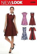 NEW LOOK SEWING PATTERN MISSES' DRESS NECKLINE & SLEEVE VARIATIONS 8 - 20 6299