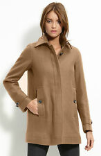 NWT BURBERRY BRIT $995 WOMENS WOOL CASHMERE COAT JACKET SZ US 4 EU 38