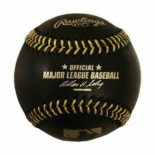 Rawlings BLACK With Gold Stitching Official MLB Game Major League Baseball