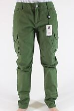 New DC SHOES Womens Goat Cargo Pants Size 27 Army Green Narrow Ankle DR1