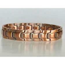 8.5  IN COPPER MAGNETIC BRACELET UNIQUE DESIGN WITH MAGNET EVERY LINK NEW 6465
