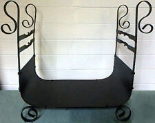 Wrought Iron Steel Fireplace Firewood Holder Log Rack Wood Storage fire place