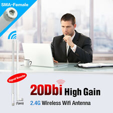 2.4GHZ 20DBI WIRELESS WIFI ANTENNA BOOSTER WLAN RP-SMA For Modem Router PCI Card