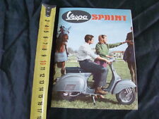 BROCHURE VESPA 150 SPRINT DUE PAGINE PIAGGIO OLD SCOOTER MADE IN ITALY