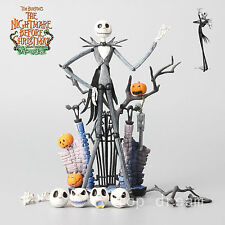 New The Nightmare Before Christmas Jack Skellington Figure Set Toy 7'' In Box FS