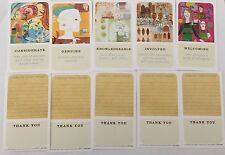 Starbucks Set Of 5 Retired Green Apron Partner Cards