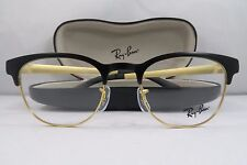 Ray-Ban RB 6317 2833 Matte Black/Gold New Authentic Eyeglasses 49mm w/Case