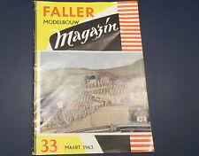 Faller  AMS --  Modellbau Magazin 33 von 1963, niederländische Ausführung