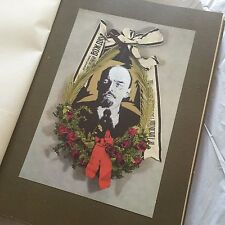 1924 UNIQUE BOOK! WREATHS TO LENIN 500pages ( old vintage collectable about )