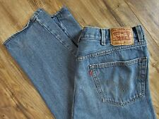 "Levi's 550 Blue Denim Jeans ""Relaxed Fit"" Mens 42 X 32 Red Tab"