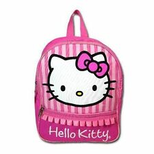 """Backpack 12"""" 2-Compartment School Bag Sanrio Hello Kitty Pink NWT"""
