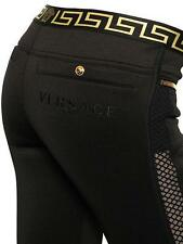 Versace Medusa black Trousers Pants As Gigi Uk8 US4 IT42 Auth Leggings dress