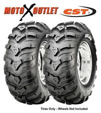 Set of 2 Atv Tires 25x8x12 CST Maxxis Ancla Pair Two Front 25 8 12