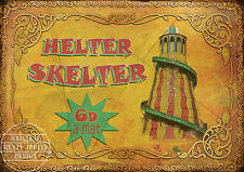 HELTER SKELTER  VINTAGE STYLE FUNFAIR  CIRCUS METAL SIGN MAN-CAVE IDEAL GIFT