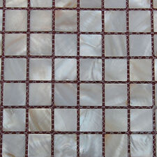 Mother Of Pearl Mosaic Tiles River Bed Nature Pearl Shell Squre Natural 25*25 mm