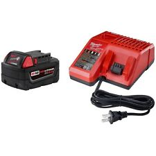 Milwaukee M18 18 Volt Red Lithium Ion XC Battery 48-11-1850 & Charger 48-59-1812