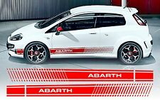 Fiat punto evo style abarth side stripe decals/stickers