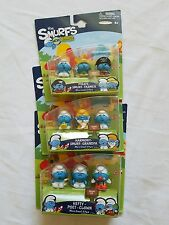 RARE The Smurfs Micro Village Set of 3, Lot of 3, Farmer, Pirate,Clown,Series #3