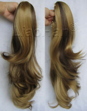 Claw Ponytail Hair Wavy Ponytail Extensions Synthetic Hair Tail Brown Pony Tail