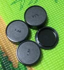 3 x Rear Lens Cap+ 1x Front body cap for Leica M mount LM L/M VM Lens