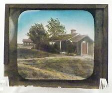 Vintage Glass Slide Old Fashioned Barn Buildings Farmhouse Late 1800s-1900 AS IS