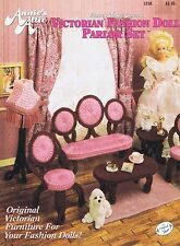 Fashion (Barbie etc) Doll Victorian Parlor Set Plastic Canvas Cross Stitch Chart