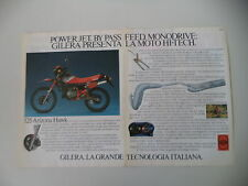advertising Pubblicità 1986 MOTO GILERA 125 ARIZONA HAWK