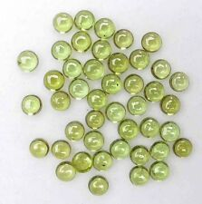 14.40 CT VERY NICE 4 mm ROUND CAB PERIDOT GEMSTONE  LOT