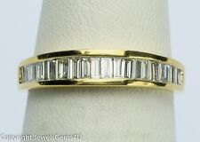 0.55ct Baguette Diamond Half-CIrcle 14K Yellow Gold Wedding Anniversary Band