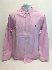 Polo Ralph Lauren SLIM FIT Pink and White Stripe Dress Shirt Large