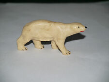 Figurine Clairet Animaux ZOO OURS POLAIRE BEIGE
