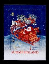 Weihnachten. Weihnachtsmann in Renntier-Schlitten. 1W. Finnland 2001