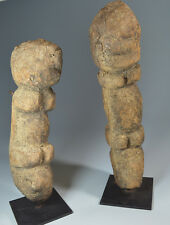 AFRICAN TRIBAL ART PAIR OF EARLY DOGON TELLEM FIGURES