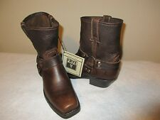 NEW Women's FRYE Harness 8R Leather BOOTS, Dark Brown, Sz 8.5 M - $268
