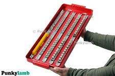 "110pc Large Deep Socket Set Rail Rack Tray 1/4"" 3/8"" 1/2"" Clip Tool Box Storage"