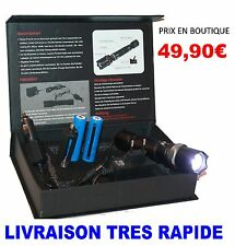 SWAT POLICE 1000M LAMPE TORCHE +4000 LUMENS LED FLASHLIGHT AVEC 2x8800MAH 18650