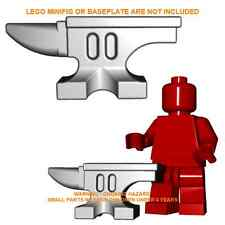 1x Custom Lego Grey Steel ANVIL Minifig Accessory Forge Blacksmith 6918 Castle
