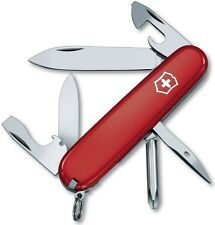 "Victorinox Swiss Army Small Tinker Knife 12 Functions Red Handle 3 ¼"" Closed"
