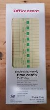 Office Depot Time Cards, Weekly, Monday-Sunday Format, 1-Sided, 3 3/8in. x 8 Of