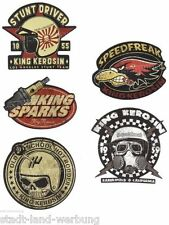 562 King Kerosin Set Stunt Driver Aufkleber Sticker Rockabilly Oldschool US Cars