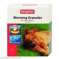 Beaphar Chat Chaton Vermifuge Granules Facile Déparasitage 4 Sachet Paquet