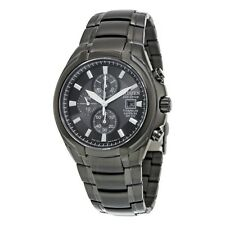 Citizen Men's Eco-Drive Black IP Titanium Saphire Chronograph Watch CA0265-59E