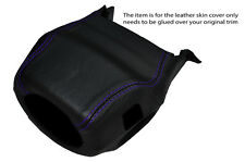 PURPLE STITCH STEERING WHEEL SHROUD SKIN COVER FITS LAND ROVER DISCOVERY 1 89-94