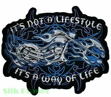 """8x10"""" It's a Way of Life Flame Biker Back Patch Motorcycle Chopper Vest Harley"""