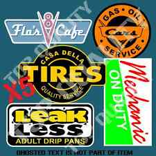 HOT ROD MEGA PACK DECAL STICKER SET FLO'S V8 CAFE LEAK LESS CARS RATROD STICKERS